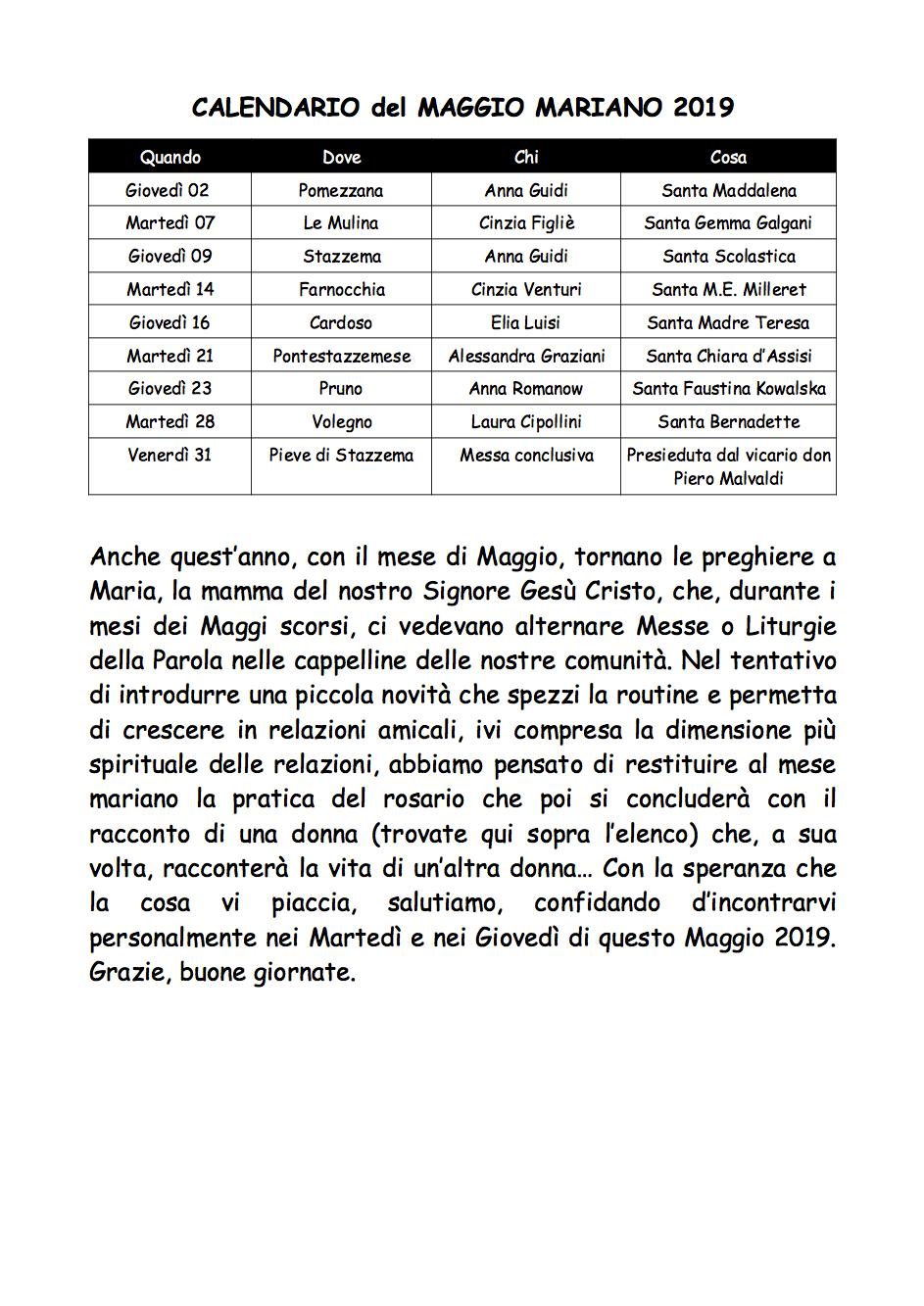 Esempio Calendario Affidamento Condiviso.Homepage Stazzema Chiesa